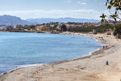 Beach in Isla Plana, region of Murcia, Spain Stock Photo
