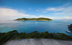 The beach and island. Beautiful beach and the island Royalty Free Stock Images