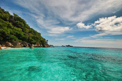 The beach and island. Beautiful beach and the island Stock Images