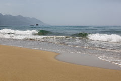 Beach on the island of Corfu, Greece Stock Photography