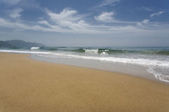 Beach on the island of Corfu, Greece Royalty Free Stock Image