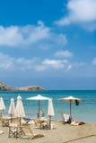 Beach on the island of Crete Stock Photos