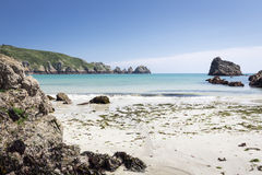 Beach on the island of GUERNSEY, UK Stock Photos