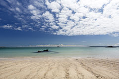 Beach on the island of Herm, UK Stock Photos
