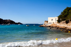 Beach on island of Ibiza Royalty Free Stock Images