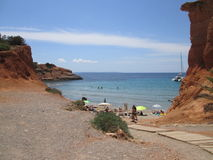 Beach on the island of Ibiza Stock Photography