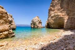 Beach on the Island of Kato Koufonisi, Little Cyclades. Pebble beach on the Island of Kato Koufonisi, Little Cyclades, Greece Royalty Free Stock Photos