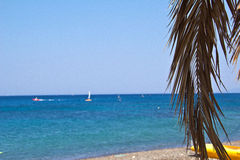 Beach on the island of Kos Royalty Free Stock Images