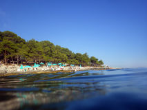 The beach on the island of Losinj. Croatia, Europe Stock Images