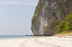 Beach on island near Sukorn Royalty Free Stock Photo