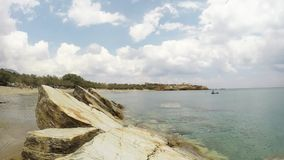 A beach in the island of Paros in the Aegean, Greece stock footage