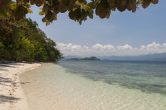 Beach on island. Philippines Stock Images