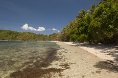 Beach on island. Philippines Royalty Free Stock Images