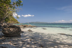 Beach on island. Philippines Stock Photography
