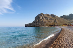 Beach on the island of Rhodes Stock Photography
