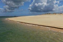 Beach on an island in Ria Formosa, Portugal Stock Photo