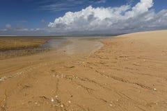 Beach on an island in Ria Formosa, Portugal Stock Photos