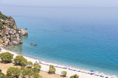 Beach on the island of Samos, Greece Royalty Free Stock Image