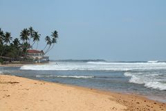 Beach on the island of Sri Lanka. Royalty Free Stock Photography