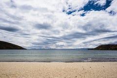 Beach on Island of the Sun, Titicaca Lake, Bolivia Stock Image