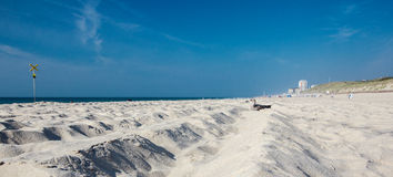 Beach on the island of Sylt. Schleswig-Holstein, Germany stock images