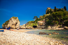 At the beach Isola Bella Stock Photography