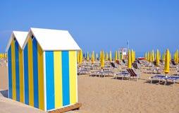 Beach on the italian Adriatic Stock Image