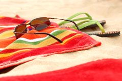 Beach items Royalty Free Stock Images