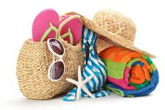 Beach items Royalty Free Stock Photo