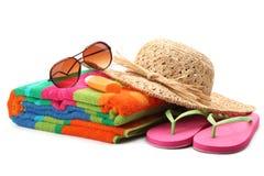 Beach items Stock Image