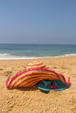Beach items Stock Images