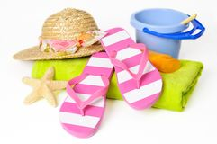Beach Items Royalty Free Stock Photography