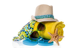 Beach Items Collection Stock Photography