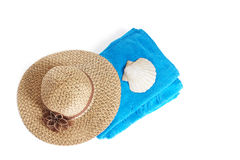 Beach items isolated on white Stock Images