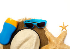 Beach items Stock Photos