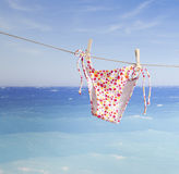 Beach items, summer vacation background Royalty Free Stock Photos
