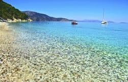 Beach at Ithaca island Greece Royalty Free Stock Photos