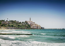 Beach by jaffa yafo old town area of tel aviv israel Royalty Free Stock Photography