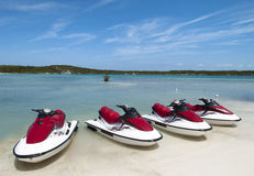 Beach With Jet Skis Stock Photo