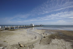 Beach with jetty Royalty Free Stock Photography