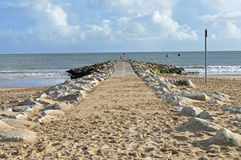Beach jetty Royalty Free Stock Photography