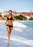 Beach jogging Royalty Free Stock Images