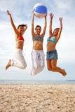 Beach jump Royalty Free Stock Images