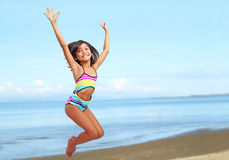 Beach Jump Royalty Free Stock Photo