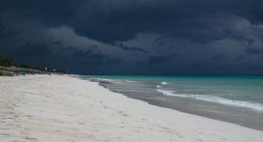 Beach just before a storm. Royalty Free Stock Images