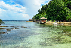 Beach on Kadidiri island. Togean Islands. Indonesia. Royalty Free Stock Photography