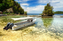 Beach on Kadidiri island. Togean Islands. Indonesia Royalty Free Stock Image