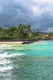 The beach of Kailua, Kona, Hawaii Royalty Free Stock Photo