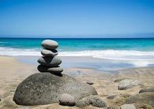 Beach Kalalau trail, Kauai. Along the majestic fins of the world-famous Napali Coast Stock Images