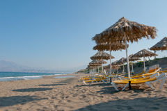 Beach in Kalamaki, Greece Stock Photography